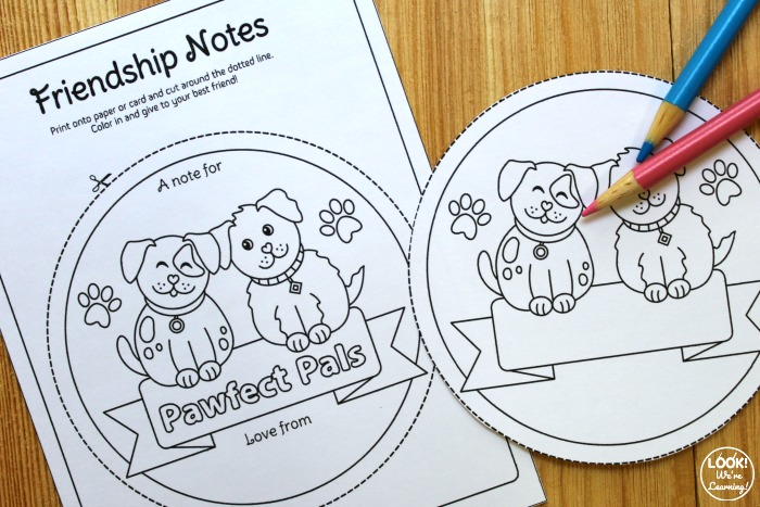 Sweet Friendship Notes for Kids