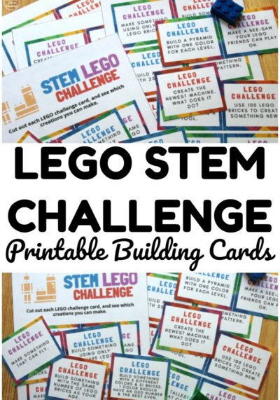 These printable LEGO STEM Building Challenge Cards are a fun way to get kids into STEM building over the summer!