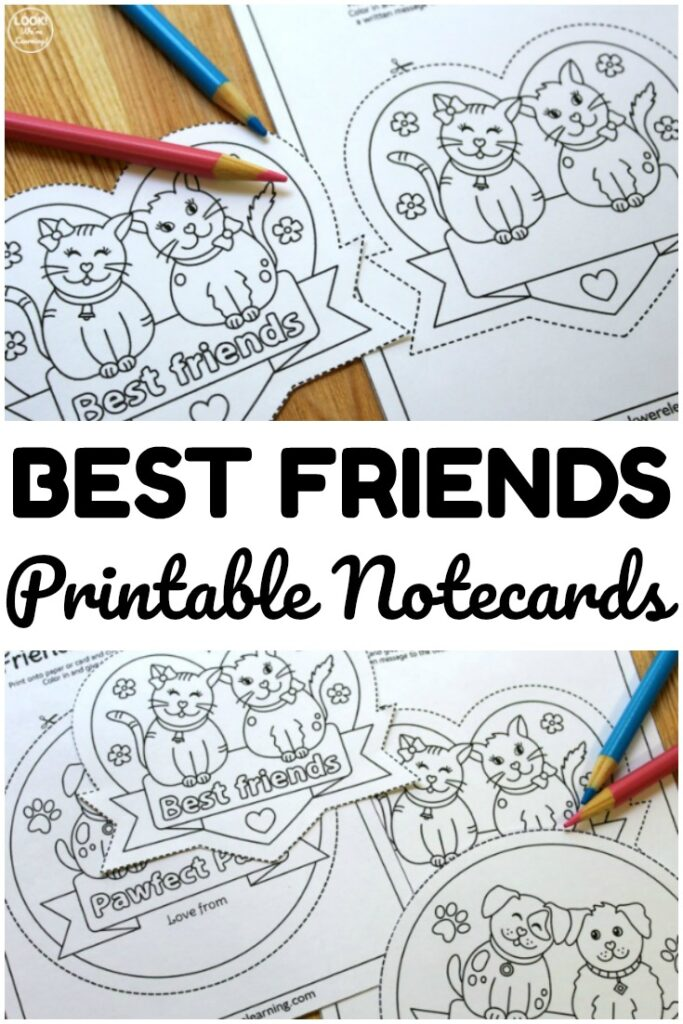 These printable friendship notes are a sweet way for kids to let their friends know they care!