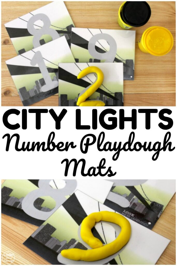Use these city themed number playdough mats to practice forming numbers from zero through nine!