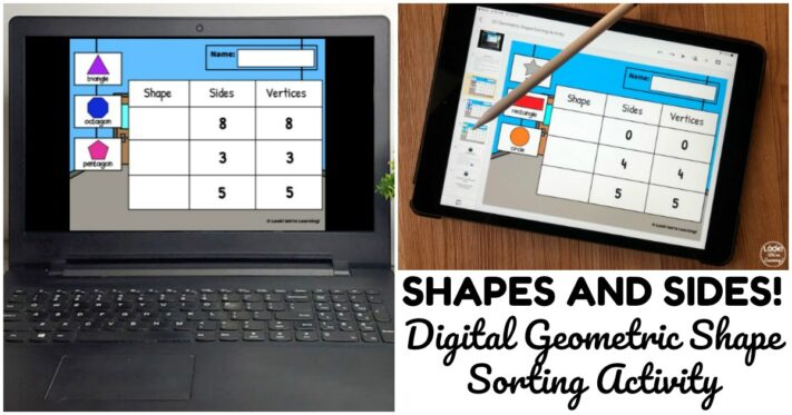 Digital 2D Geometric Shape Sorting Activity