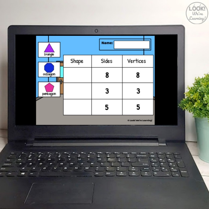 Digital 2D Geometric Shape Sorting Activity for Early Learners