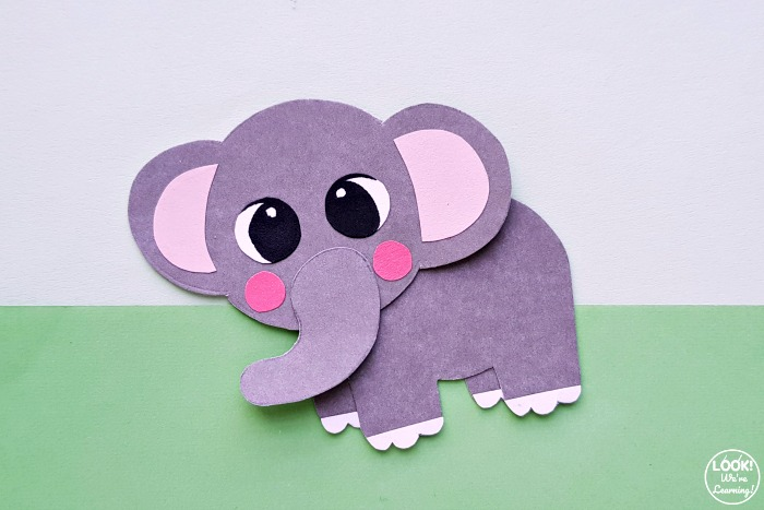 Elephant Paper Craft to Make With Kids