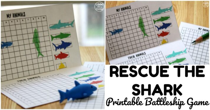 Fun Rescue the Shark Printable Game