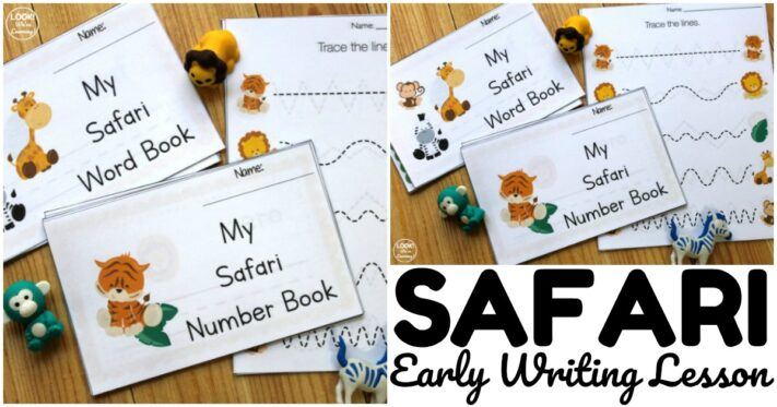 Fun Safari Preschool Writing Lesson