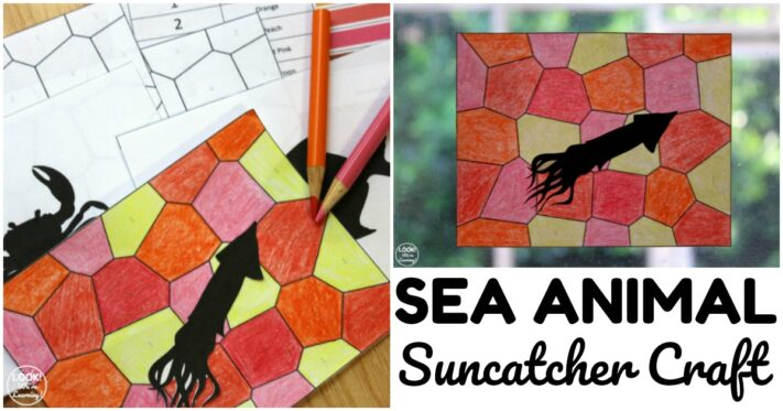 Fun Sea Animal Suncatcher Craft for Kids