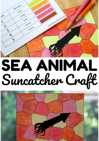 Make this easy sea animal suncatcher craft for a simple summer art project this year!