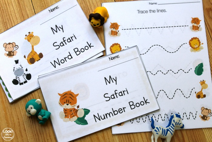 Printable Safari Preschool Learning Kit