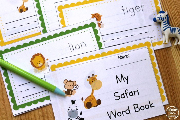 Printable Safari Preschool Writing Book