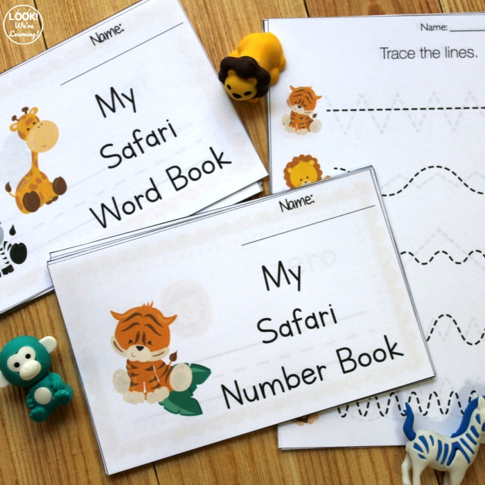 Printable Safari Preschool Writing Book
