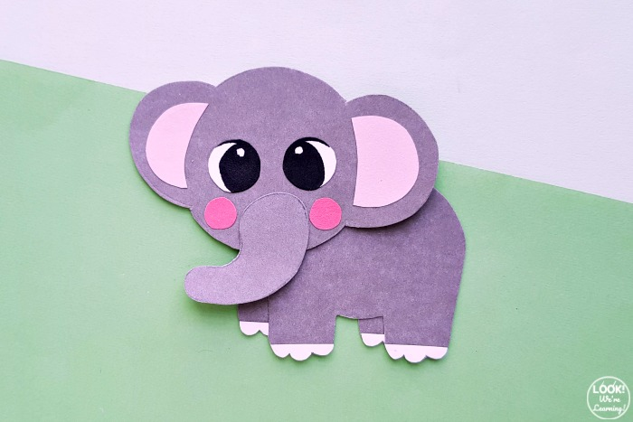 Simple Paper Elephant Craft for Kids to Make