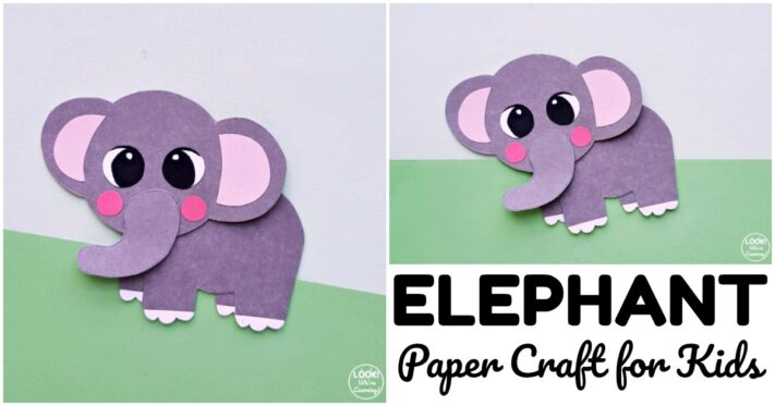 Simple Paper Elephant Craft to Make with Kids