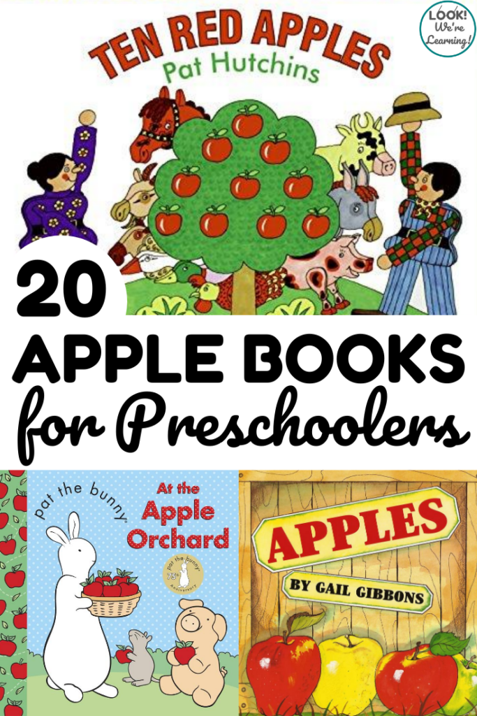 These 20 apple preschool books make wonderful read aloud selections for fall in early learning classrooms!
