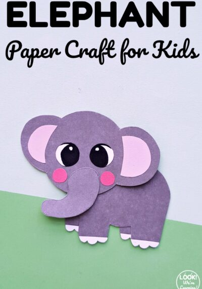 Try this simple paper elephant craft for a fun kids crafting activity!