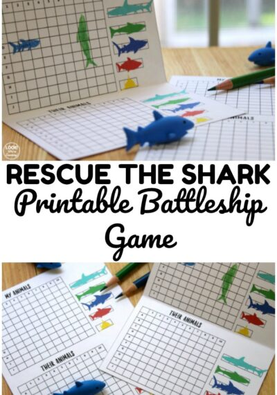 Use this printable rescue the shark game to help kids have fun play time indoors!