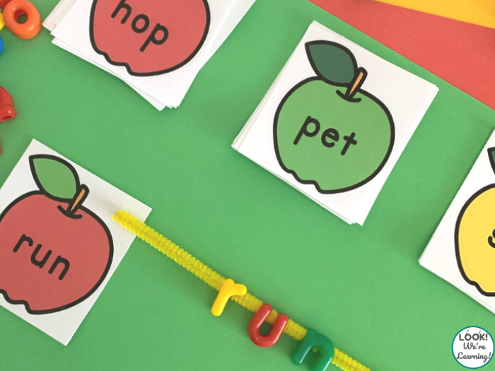 Apple CVC Literacy Skill Activity