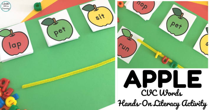 Apple CVC Word Literacy Activity
