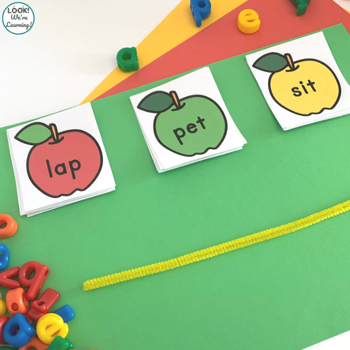 Apple CVC Word Reading Activity for Kids