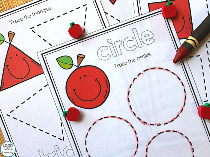 Apple Shape Learning Activity for Early Learners