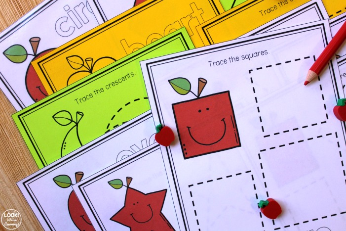 Apple Shape Tracing Activity
