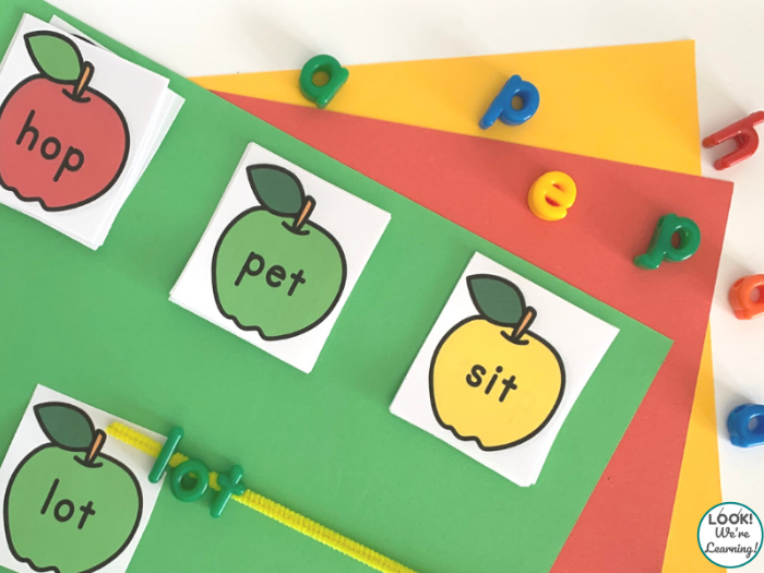 Apple Themed CVC Word Activity