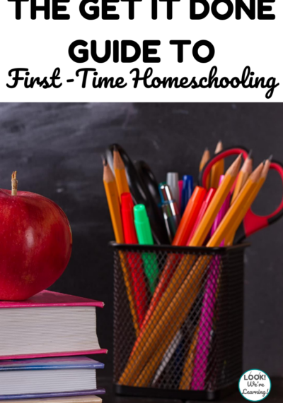 Banish overwhelm and start learning with this easy guide to first time homeschooling!