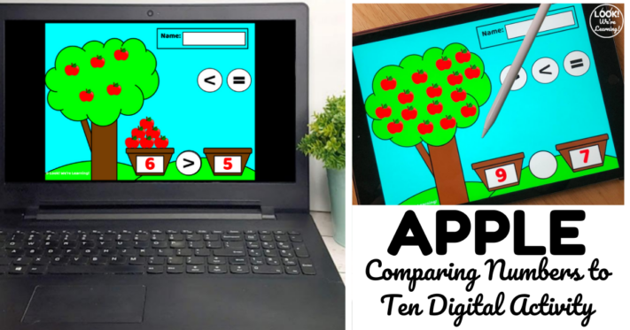 Digital Apple Picking Game for Comparing Numbers