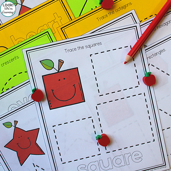 Easy Apple Early Geometry Activity for Kids