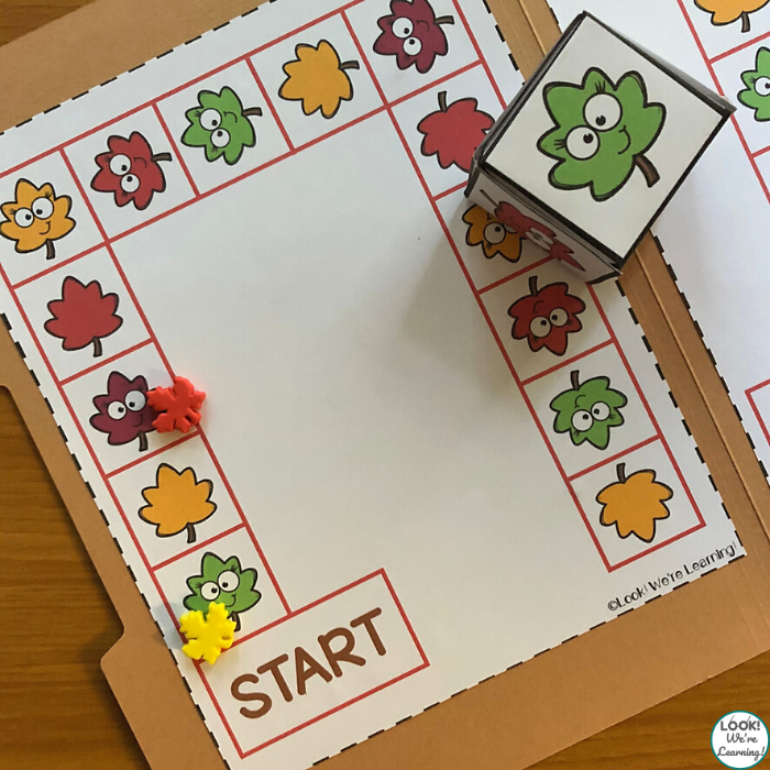 Easy Leaf File Folder Game for Kids