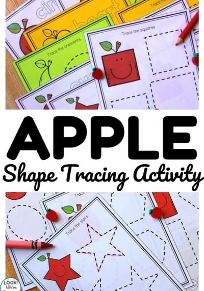 Practice early geometry skills with this fun apple themed shape tracing activity!