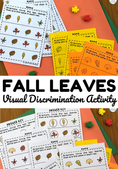 Practice telling same and different objects apart with these same or different leaf worksheets!
