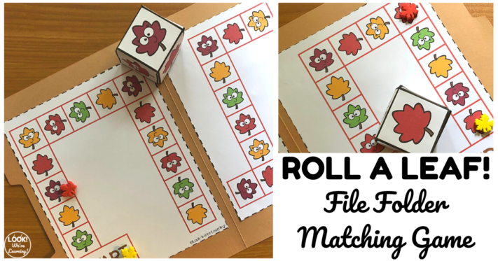 Printable Leaf Matching File Folder Game