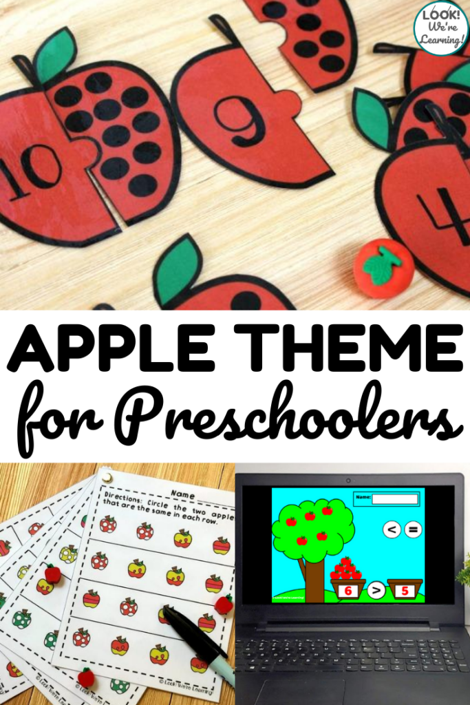 Put together a simple preschool apple unit with these fun apple activities for preschoolers and kindergartners!
