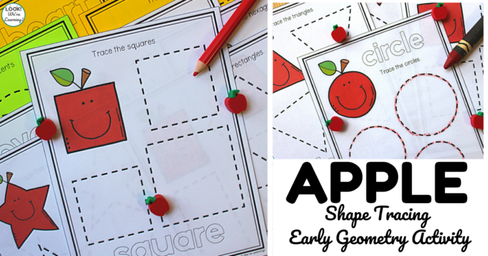 Simple Apple Shape Tracing Lesson for Kids