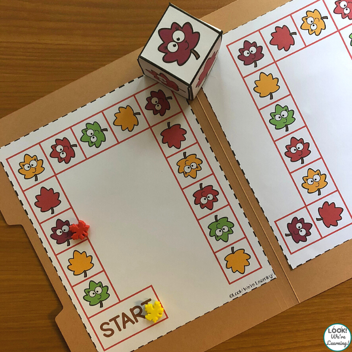 Simple Leaf File Folder Game