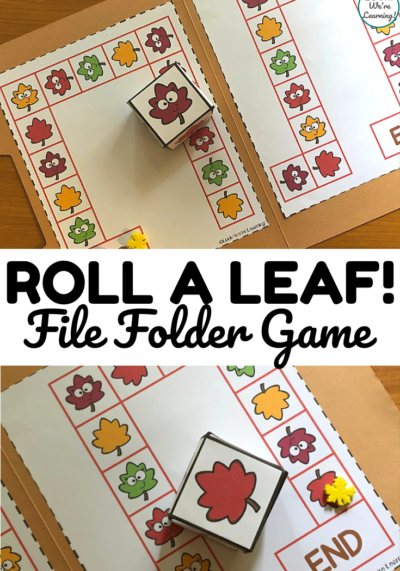 This fun and easy leaf matching file folder game is a fun color recognition activity for little ones!