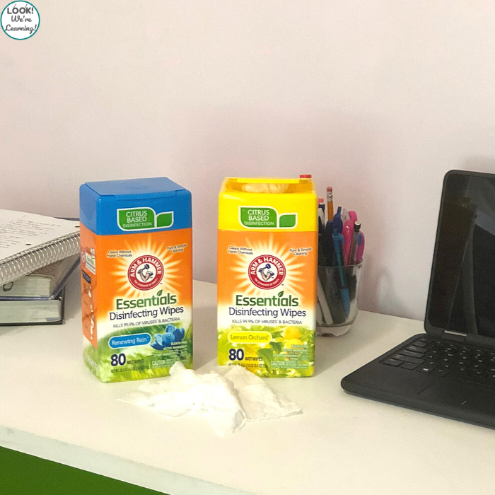 How to Sanitize A Distance Learning Station