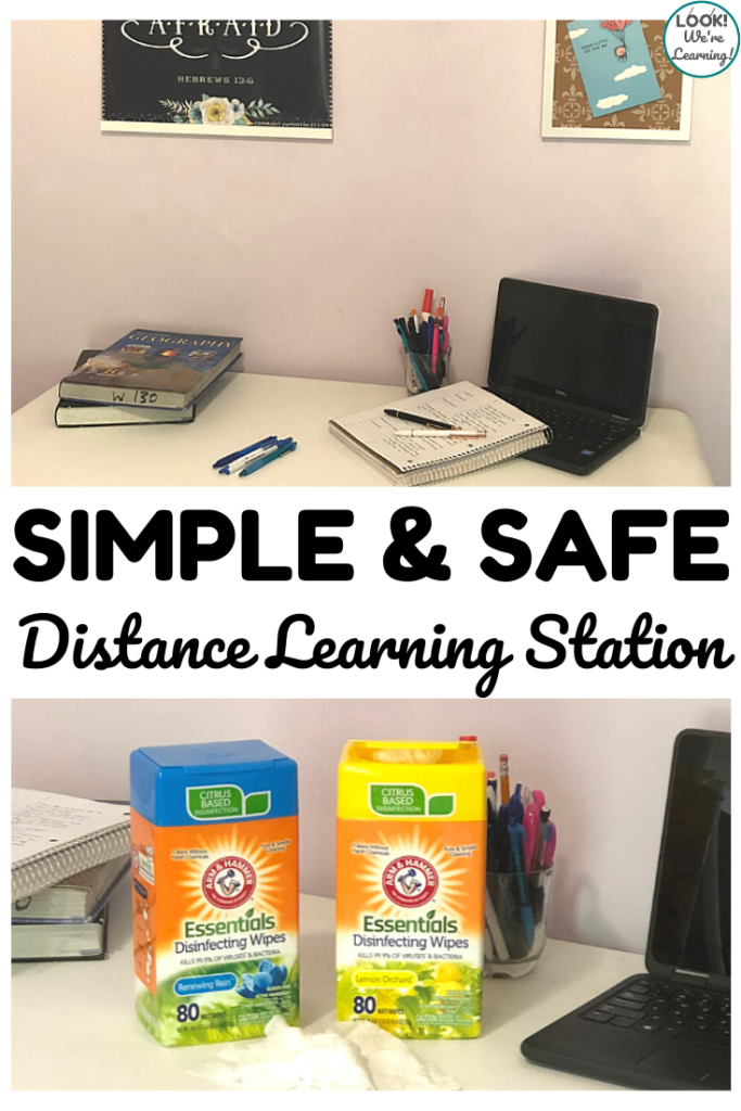 How to Set Up A Simple and Safe Distance Learning Station for Your Kids This School Year