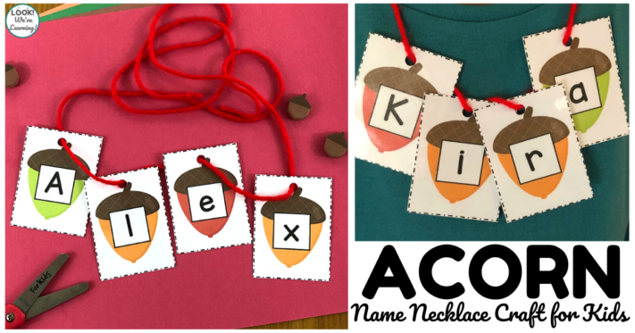 Acorn Name Necklace Craft