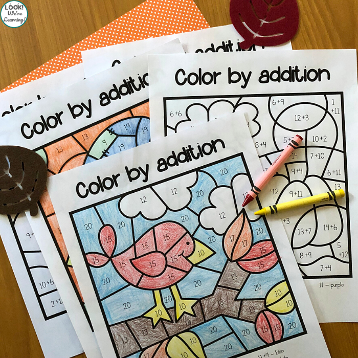 Fall Themed Addition Activity