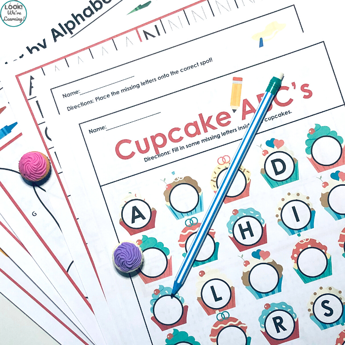 Cupcake Alphabet Worksheets