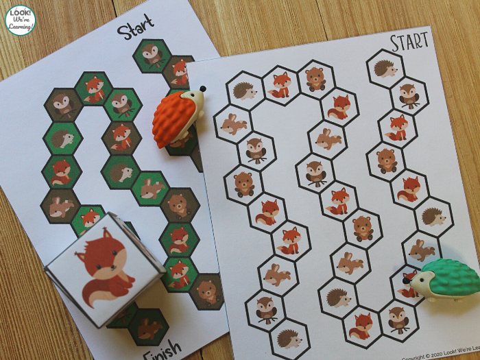 Forest Animals Board Game for Kids