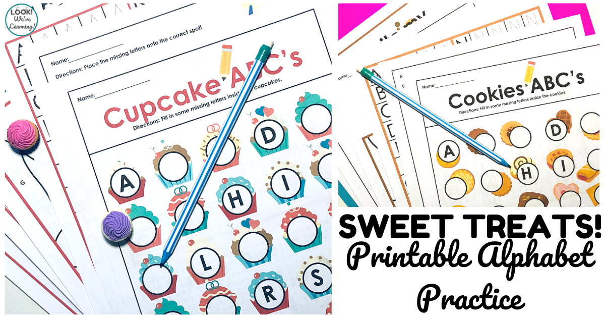 Cupcake And Cookie Alphabet Worksheets - Look! We're Learning!