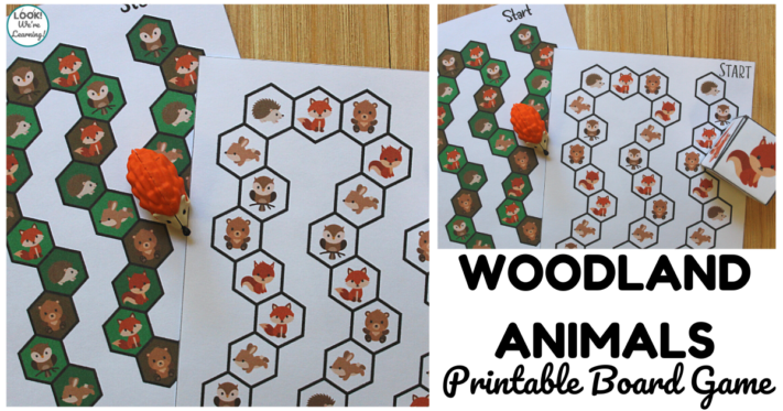 Fun Woodland Animals Printable Board Game