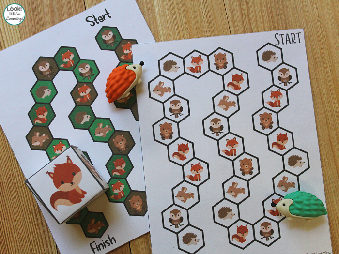 Printable Woodland Animals Board Game