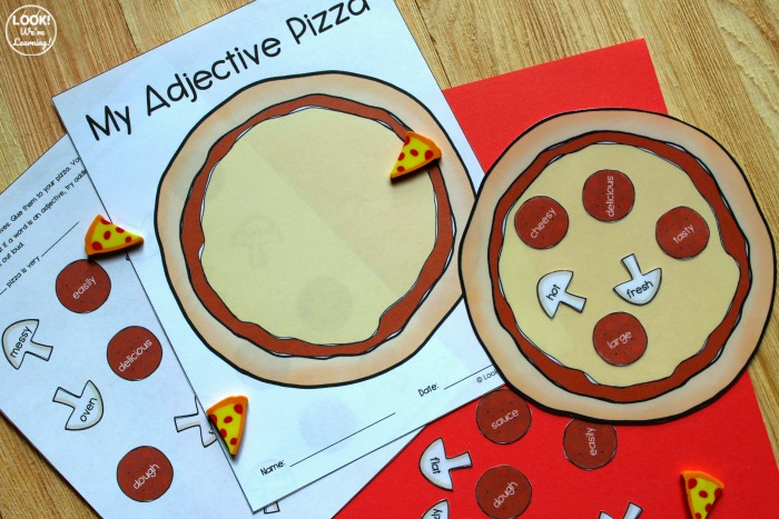 Adjective Pizza ELA Activity