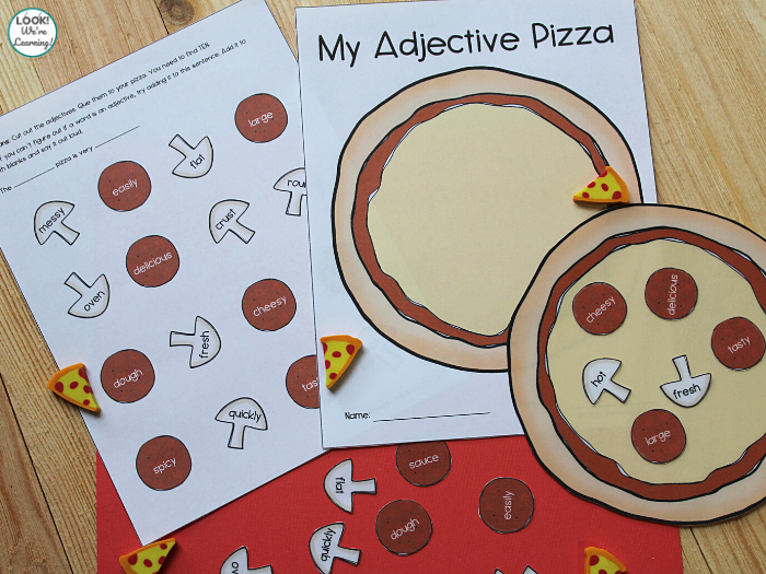 Fun Pizza Adjective Sorting Activity