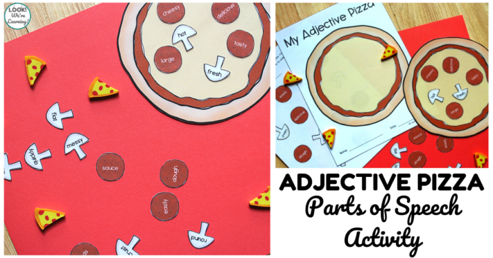 Pizza Themed Adjective Sorting Activity