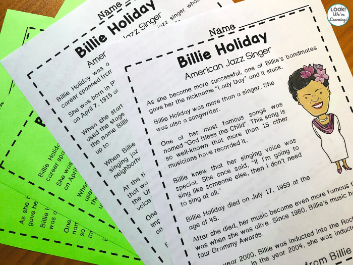 Billie Holiday Mini History Lesson for Kids