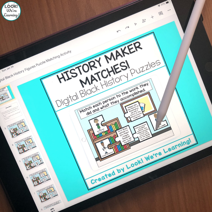 Digital Black History Figure Puzzles for Kids